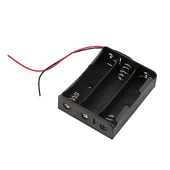 New Plastic Battery Storage Case Box Holder For 3x18650 3.7v With Wire Leads