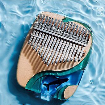 Kalimba 17 key thumb piano solid beech epoxy resin portable kalimba mbira sanza with tuning hammer keyboard musical instrument