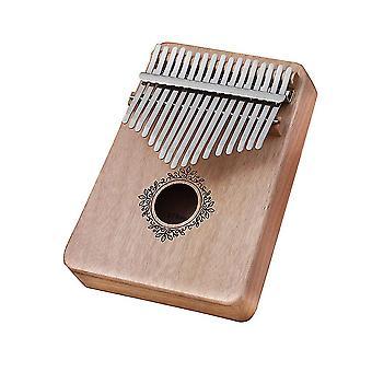 Kalimba Thumb Piano 17 Teclas com padrão de impressão de veado instrumento musical portátil