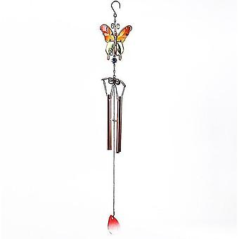 Glass Hummingbird Wind Gongi, Outdoor Windchimes Indoor Stained Glass Wind Chime Metal