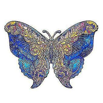vlinder houten puzzelstuk spel voor kinderen en volwassenen (A3)