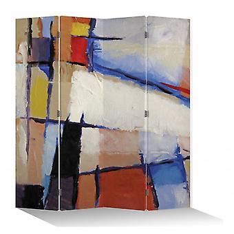 Fine Asianliving Room Divider Privacy Screen 4 Panel Art Contemporain W160xH180cm