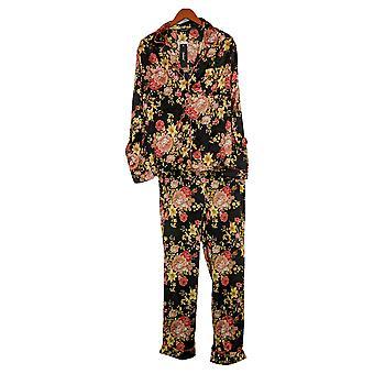 Tolani Collection Damen Pyjama Set Floral Printed Black A390127