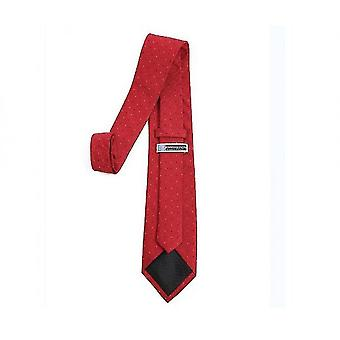Mens Classic Skinny Woven Thin Necktie(Red)
