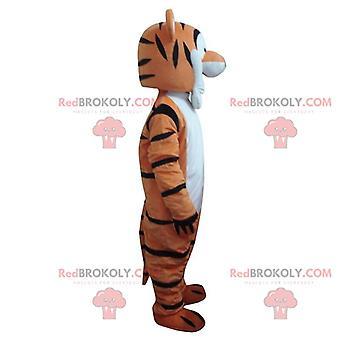 Mascotte REDBROKOLY.COM de Tigrou, célèbre tigre orange dans Winnie l'ourson
