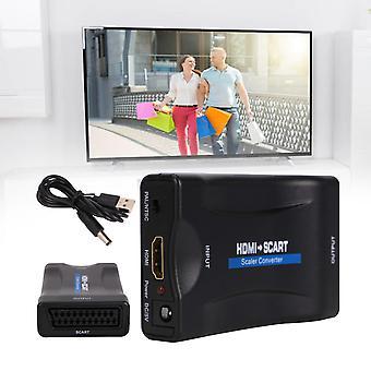 Adapter HDMI na SCART 1080P Video Audio Upscale Converter USB