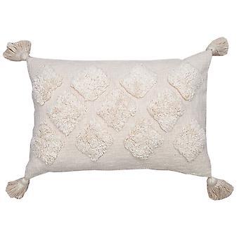 "Spura Home Kalina Ivory Contemporary 16""x26"" Pillow Cushion"