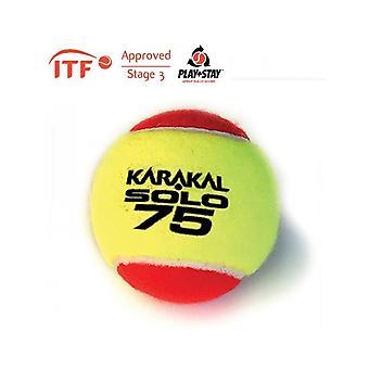 Karakal Solo 75 Red Tennis ITF Goedgekeurde Lage Druk & Stuiterbal - 1 Dozijn