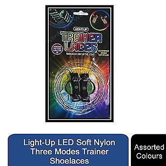 Light-Up LED Soft Nylon Drei Modi Trainer Schnürsenkel, verschiedene Farben