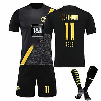 Reus #11 Jersey 2021-2022 Ny säsong Borussia Dortmund Fotboll T-Shirts Jersey Set för barn ungdomar