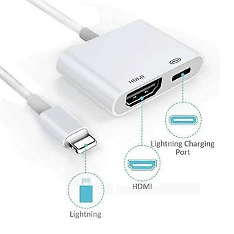 Apple iPhone iPad 5 6 7 8 Plus X Lightning naar HDMI Digital ~ V ~ dapter kabel