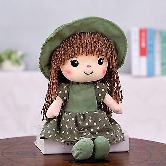1pc 40cm נסיכה בובה ממולא צעצועים קטיפה בובות צעצועים בנות ילדים Kawaii תינוק קטיפה צעצועים (ירוק)