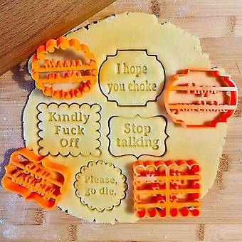 Cookie Molds With Good Wishes Funny Cookie Cutters Sets For Baking Shapes