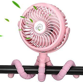 Wandelwagen oplaadbare draagbare handheld ventilator met flexibel statief 3 snelheden