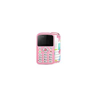 Aeku M9 0.96 Inch 360mah Vibration Bluetooth One Key Sos Low Radiation Ultra Thin Mini Card Phone -- Black / White / Pink / Blue - Pink (pink)
