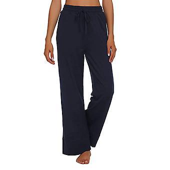 Womens High Waist Wide Leg Trousers Casual Elastic Loose