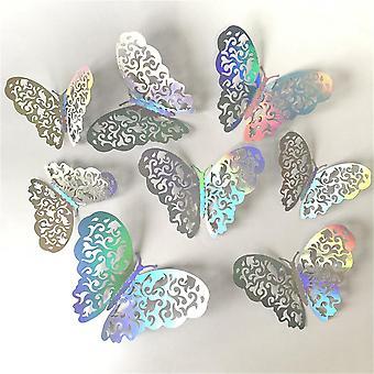 72pcs Hollow Butterfly Wall Sticker 3d Hollow Paper Butterfly