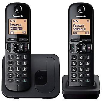 Panasonic KX-TGC212EB Digital to håndsett svart trådløs telefon med LCD-skjerm