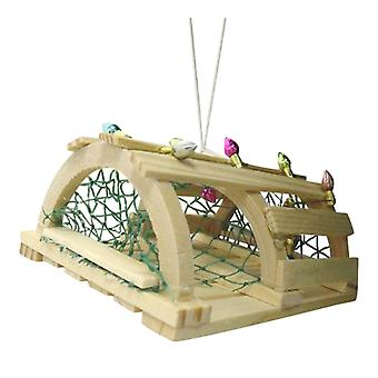 Beachcombers Coastal Nautical Wooden Lobster Trap Christmas Holiday Ornament