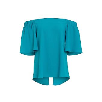 Love2dress Women's Party Elasticated Blue Bardot Top UK SIZE 12