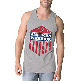 Американский воин серый Crewneck графический танки для мужчин подарка для него