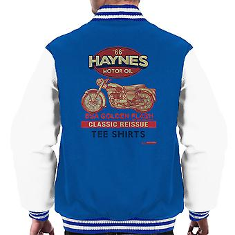 Haynes Motorcycle BSA Golden Flash Motor Oil Men's Varsity Jacket