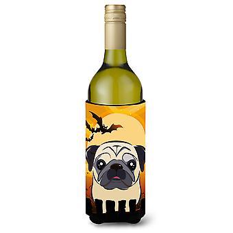 Halloween Fawn Pug Wine Bottle Beverage Insulator Hugger