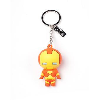 IJzeren Man karakter 3D hanger Rubber sleutelhanger meerkleurig Keyring multi colour