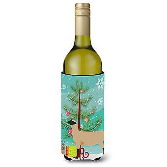 Hampshire Down Sheep Christmas Wine Bottle Beverge Insulator Hugger