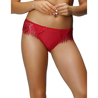 Nessa P1 Women's Lou Red Solid Colour Knickers Panty Brief