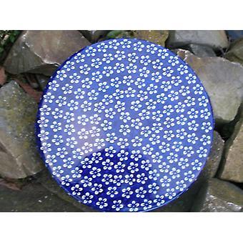 Assiette à tarte bleue 33 x 3 cm, Bolesławiec, BSN J-978