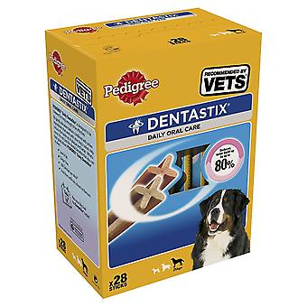 Pedigree DentaStix Dog Chews Dog mare (pachet de 4, Total 112 bete)