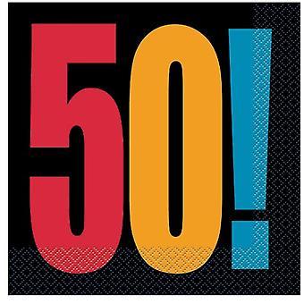 50-й день рождения развеселить салфетки
