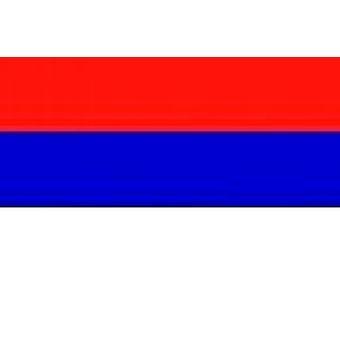 Servië vlag 5 ft x 3 ft (100% Polyester) met oogjes voor verkeerd-om
