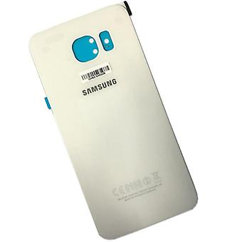 Samsung Galaxy S6 kant G925 G925F batteri cover cover + lim pad hvid