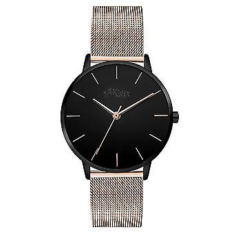 s.Oliver kvinnors watch armbandsur rostfritt stål SO-3530-MQ