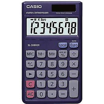 Casio SL-300VER Pocket calculator Blue Display (digits): 8 solar-powered, battery-powered (W x H x D) 70 x 7.5 x 118.5 mm
