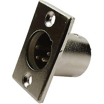 Cliff FC6125 XLR-kontakten hylsan plugg, rak stift antal stift: 4 Silver 1 dator