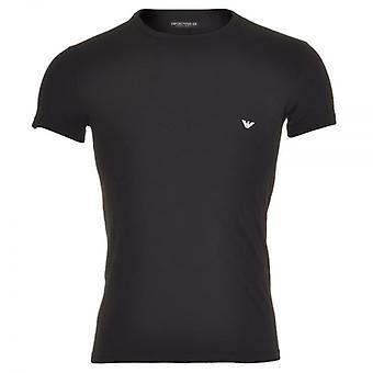 Emporio Armani Fashion Stretch Cotton Crew Neck T-Shirt, Black, Small