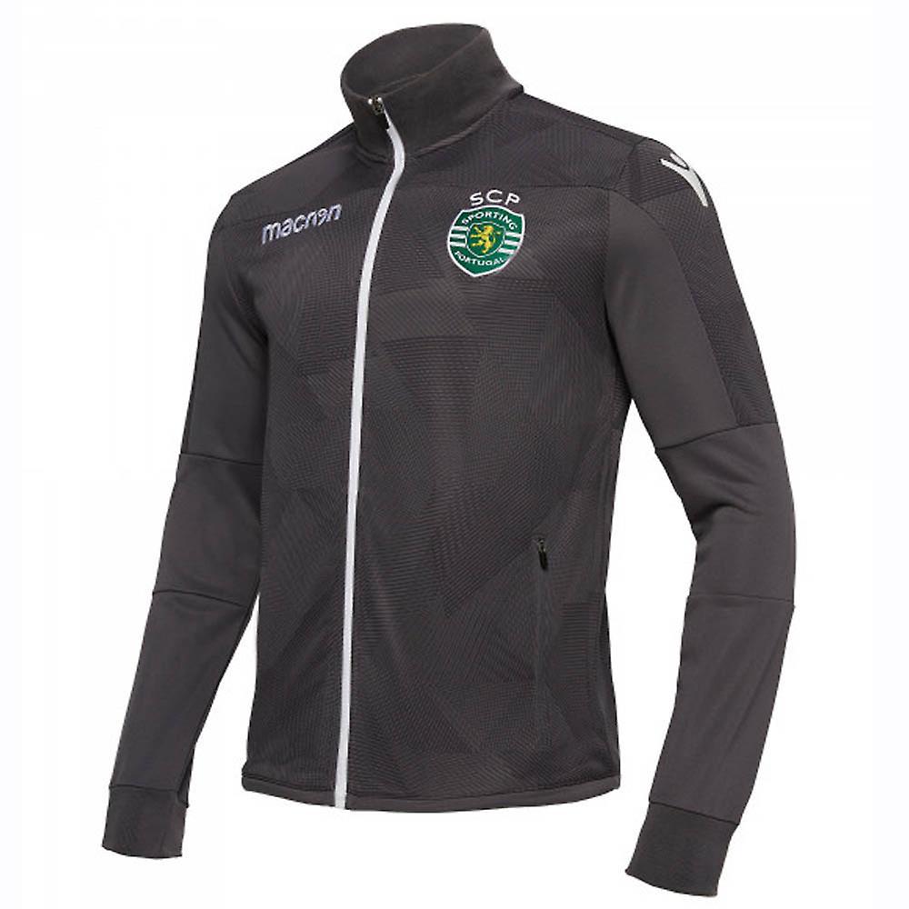 Macron Sporting Lissabon Jacke grau Sporting Clube de Portugal Anthem Jacket