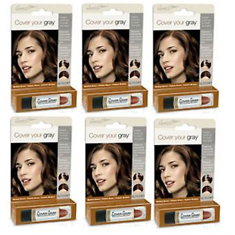 Cover Your Gray Touch-Up Stick Medium Brown (6-PACK)