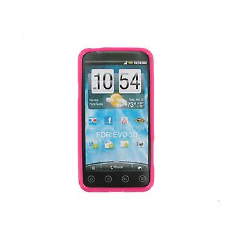 Technocel Slider Skin Case Cover HTC EVO 3D (roze)