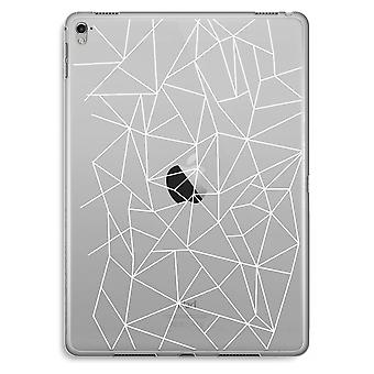 iPad Pro 9,7 tommers gjennomsiktig sak (myk) - geometriske linjer hvit