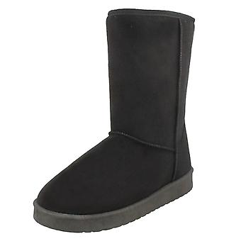 Ladies Spot On Mid Length Fleece Lined Boots F4406