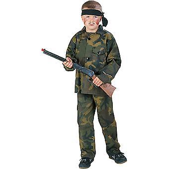 Rambo Kinder Kostüm Junge Soldat Held Karneval