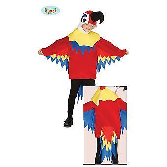 Guirca värikäs papukaija Carnival Carnival teemalla osapuoli lintu puku lapsille