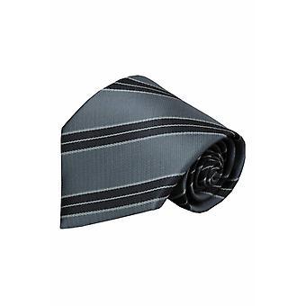 Grijze zijden stropdas Gari 01