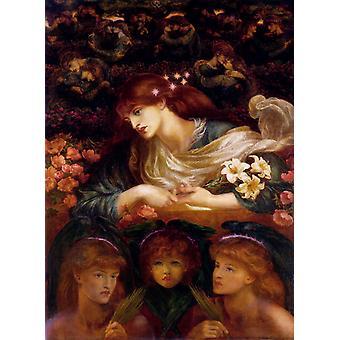 Le Bienheureux Damozel, Dante Gabriel Rossetti, 50x40cm