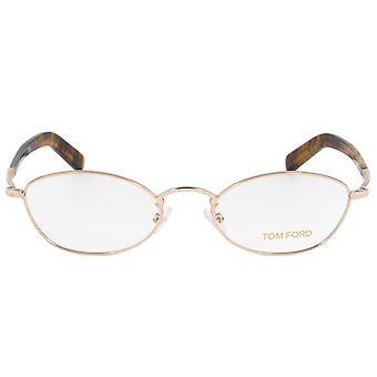 Tom Ford FT5368 28 oval | Rose guld/Havanna | Glasögon bågar