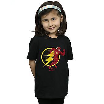 DC Comics девочек флэш-работает эмблема футболку